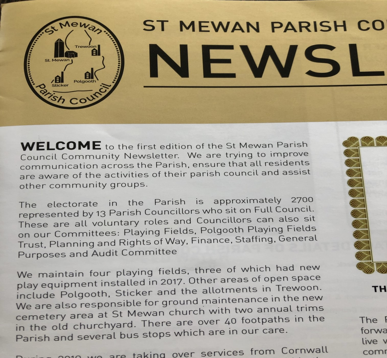 St Mewan Parish Community Newsletter